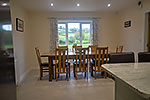 dining area at ochr y garth holiday cottage