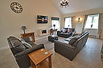 lounge at ty r efail holiday cottage